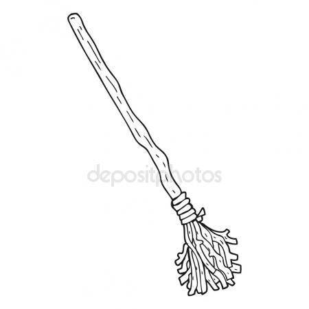 450x450 Freehand Drawn Cartoon Broomstick Stock Vector Lineartestpilot