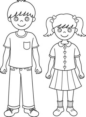 coloring book pages sisters | Brother And Sister Drawing at GetDrawings.com | Free for ...