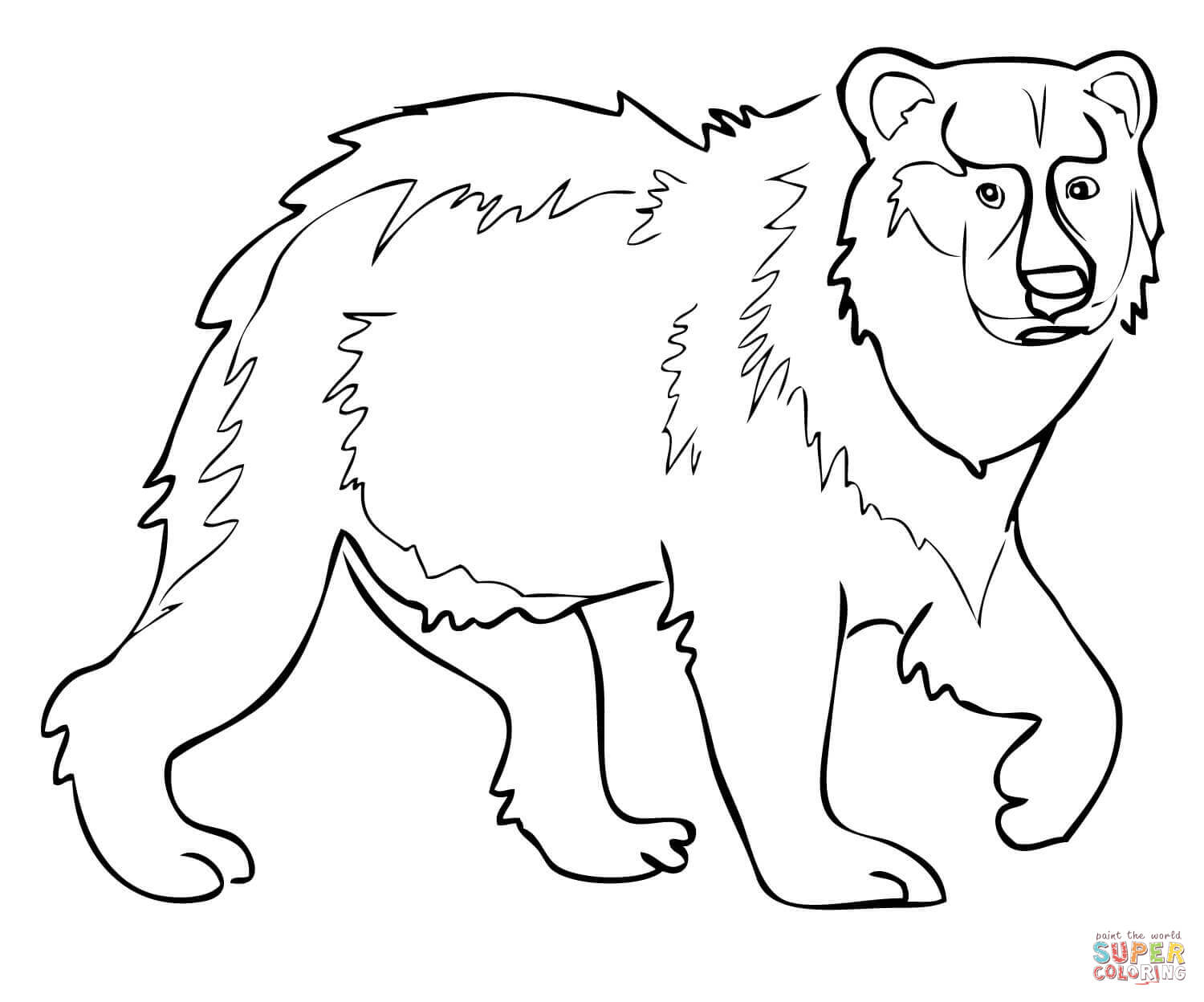 1500x1248 Eurasian Brown Bear Coloring Page Free Printable Pages