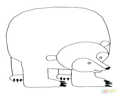 400x322 Brown Bear Coloring Page