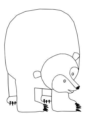 339x480 Brown Bear, Brown Bear, What Do You See Coloring Page Free