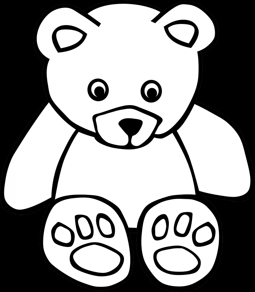 895x1024 Drawings Of Bears Line Drawing Clipart Best