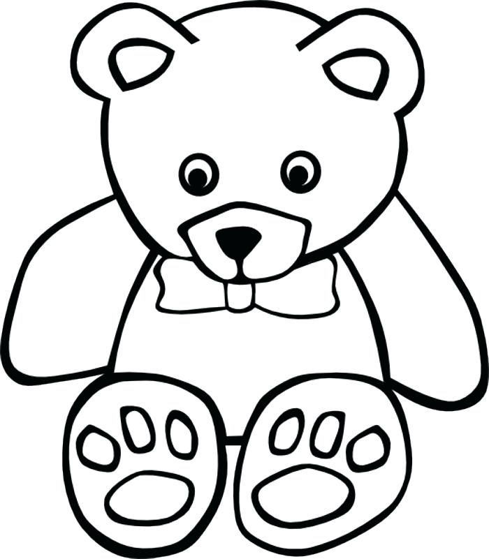 700x801 Outline Of A Bear Polar Bear Outline Drawing Polar Bear Line