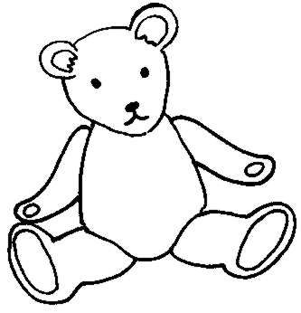 333x346 Teddy Bear Black And White Brown Bear Black And White Clipart 3