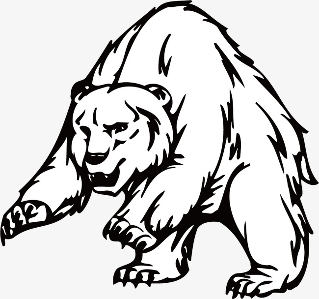 650x608 Bear, Line Drawing, Black And White, Line Png Image For Free Download