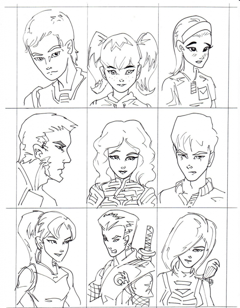 797x1024 Cartoon Head Drawing Images About Faces On Brown