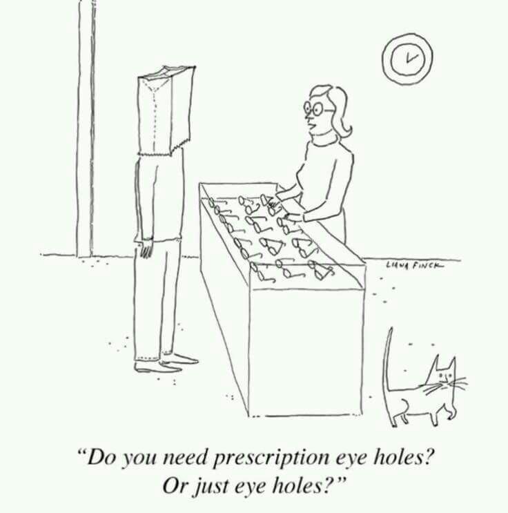 736x743 Eye Holes For Brown Paper Bag On Head Eye Humor