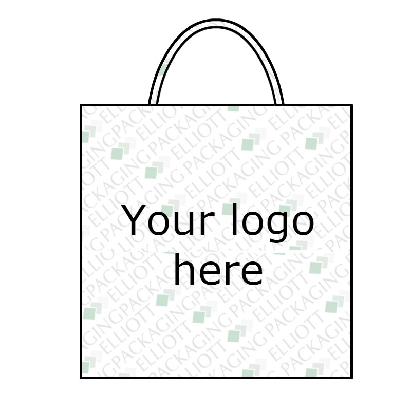 800x800 Kraft Twisted Paper Handle Carrier Bags Printed Eco Friendly Bag