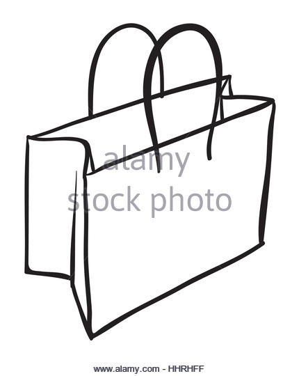 430x540 Paper Shopping Bag Sketch Stock Photos Amp Paper Shopping Bag Sketch