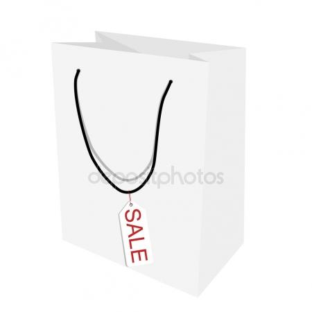 450x450 Vector Empty White Shopping Paper Bag Stock Vector A R T U R