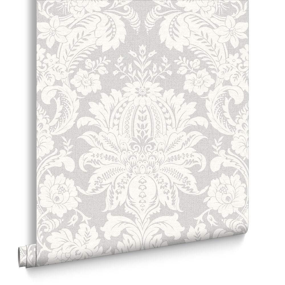 1000x1000 Venetian Damask Grey Wallpaper