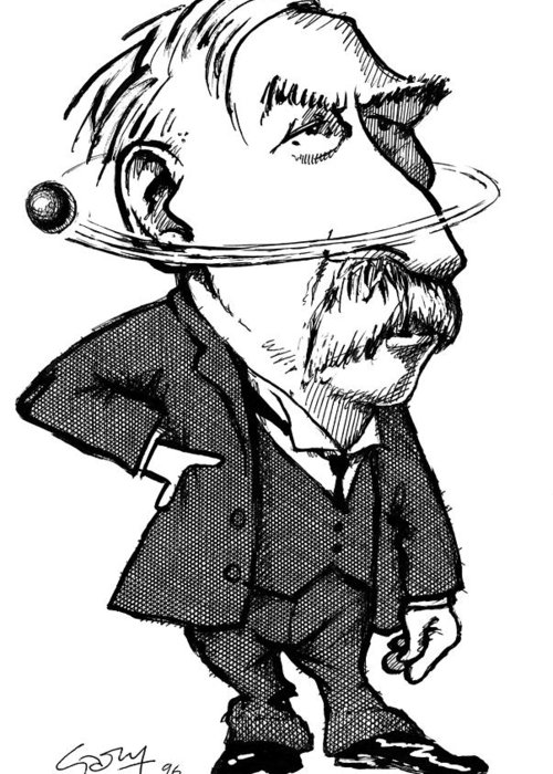 500x700 Ernest Rutherford, Caricature Greeting Card For Sale By Gary Brown
