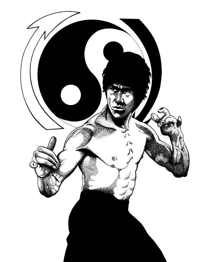 715x865 Bruce Lee This Was One Of My Earliest Piece Back