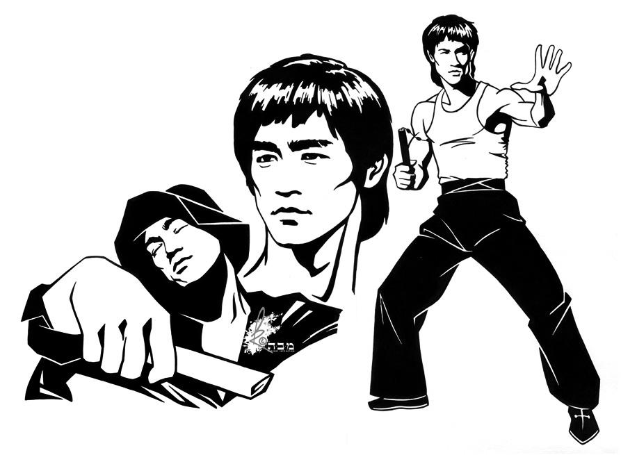 893x655 Bruce Lee 1 By Davidkawena