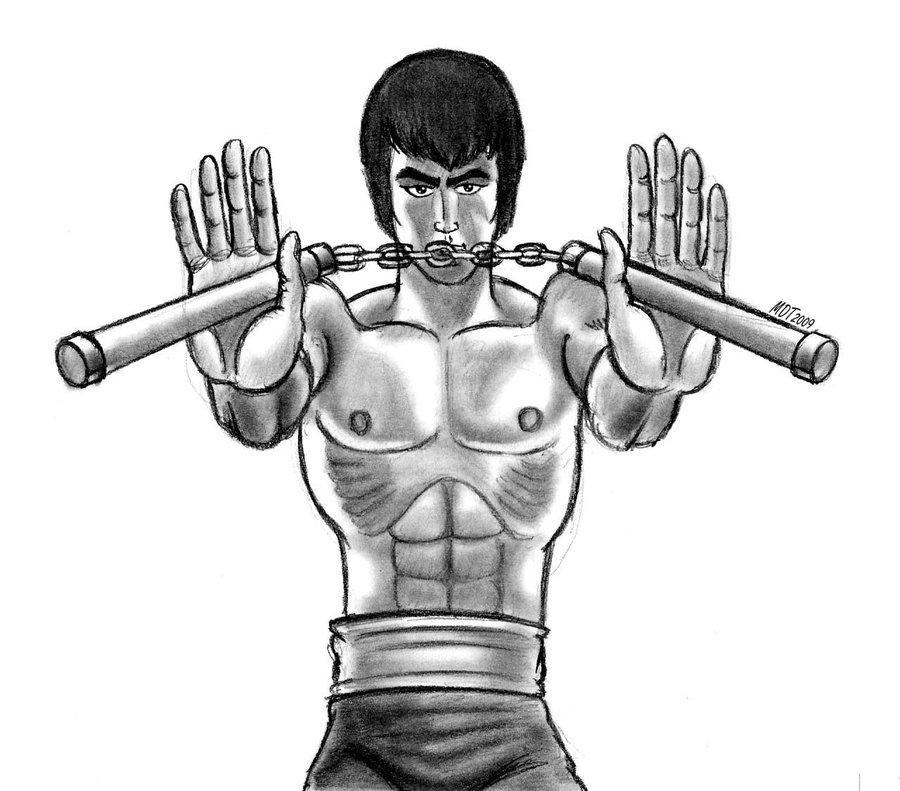 900x791 Bruce Lee 2 By Mdtartist83