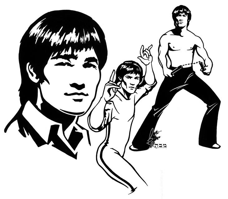 731x638 Bruce Lee 2 By Davidkawena