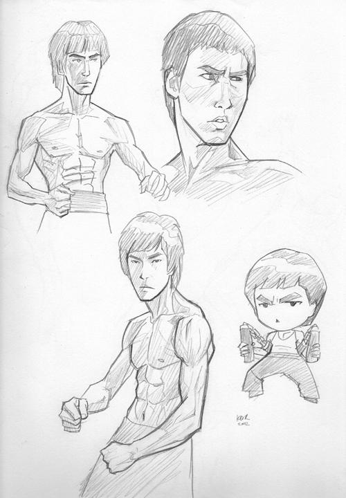 500x720 Bruce Lee By Kevinraganit