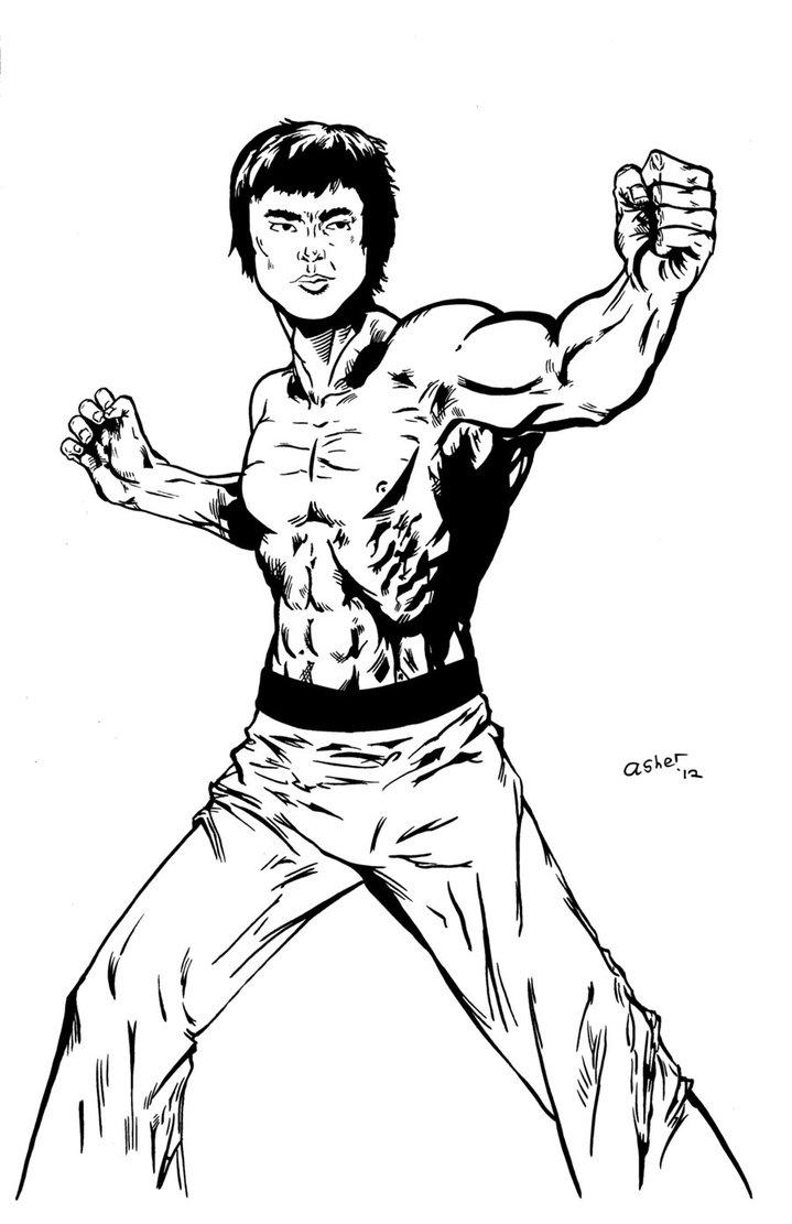 719x1111 Bruce Lee Inks By Pycca