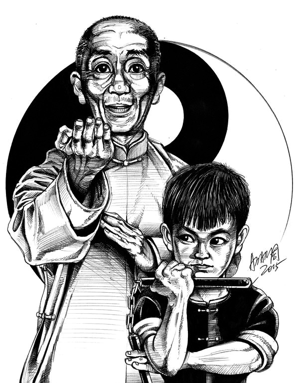 600x768 Little Bruce And Yip Man Little Dragon Bruce Lee