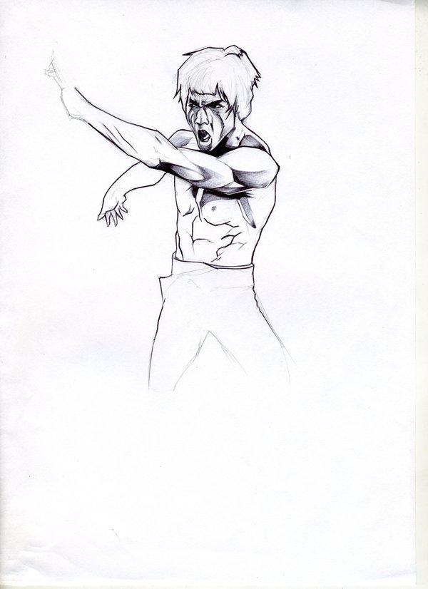 600x826 Sketch Bruce Lee By Kiwi Anim8a