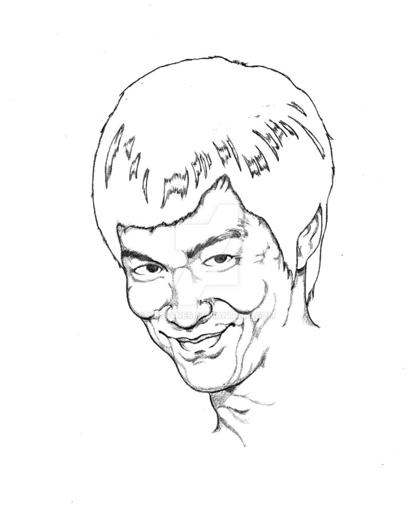 806x992 The Grin Of Bruce Lee By Nes44nes
