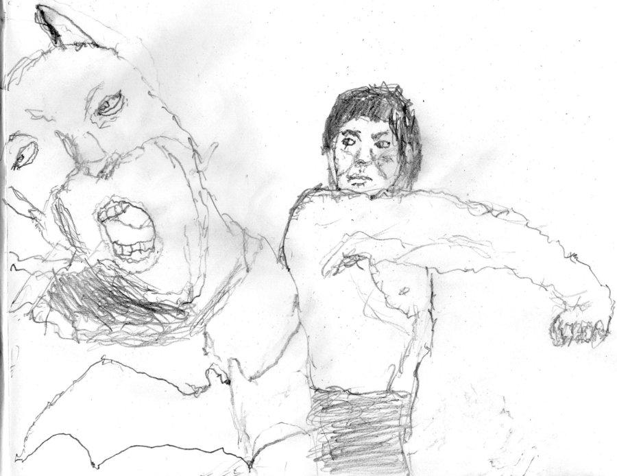 900x694 Batman Vs Bruce Lee By Ironbearroper
