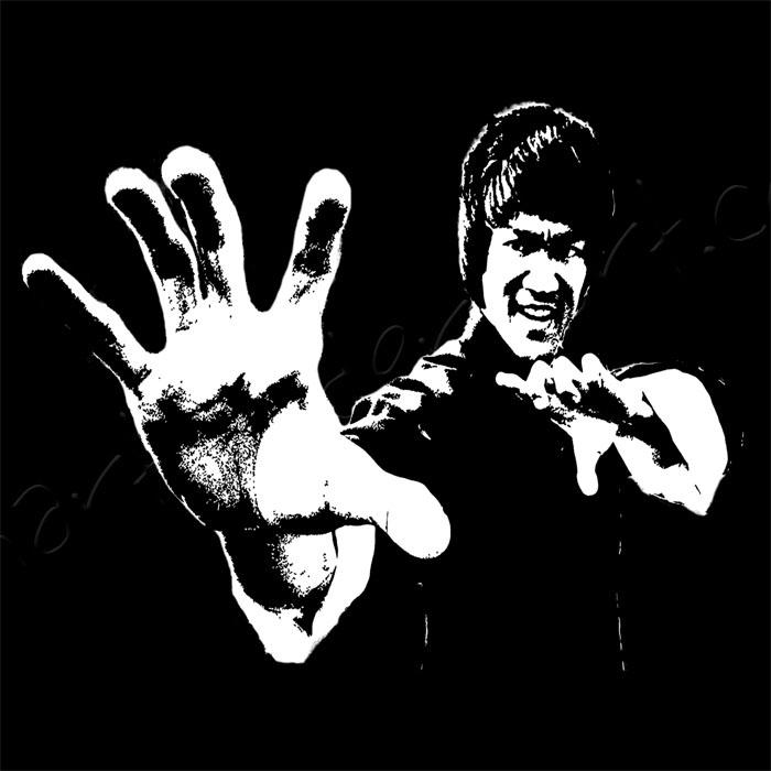 700x700 Bruce Lee Canvas Art