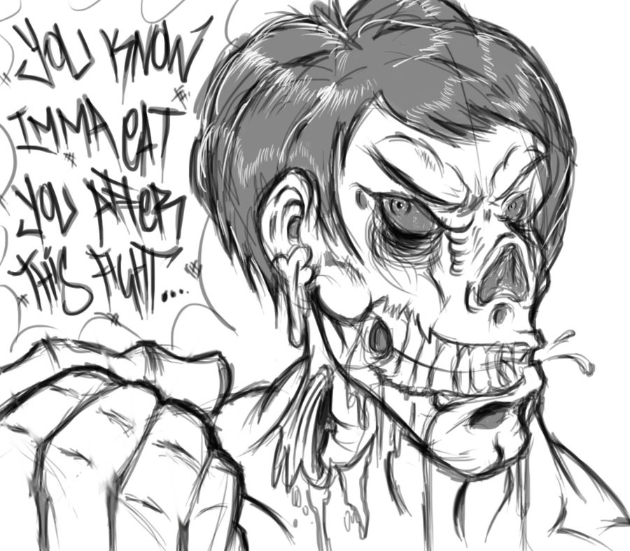 900x788 Bruce Lee Zombie By Chamiliona101
