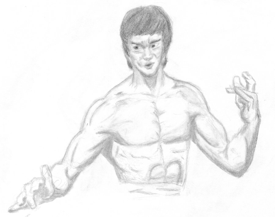900x710 Bruce Lee By Nate2100