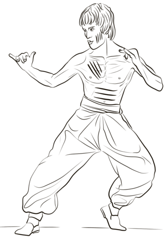 339x480 Bruce Lee Coloring Page Free Printable Coloring Pages
