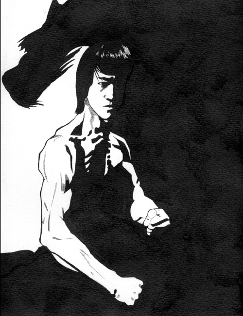 500x651 Bruce Lee Inks By Vctrstigma9