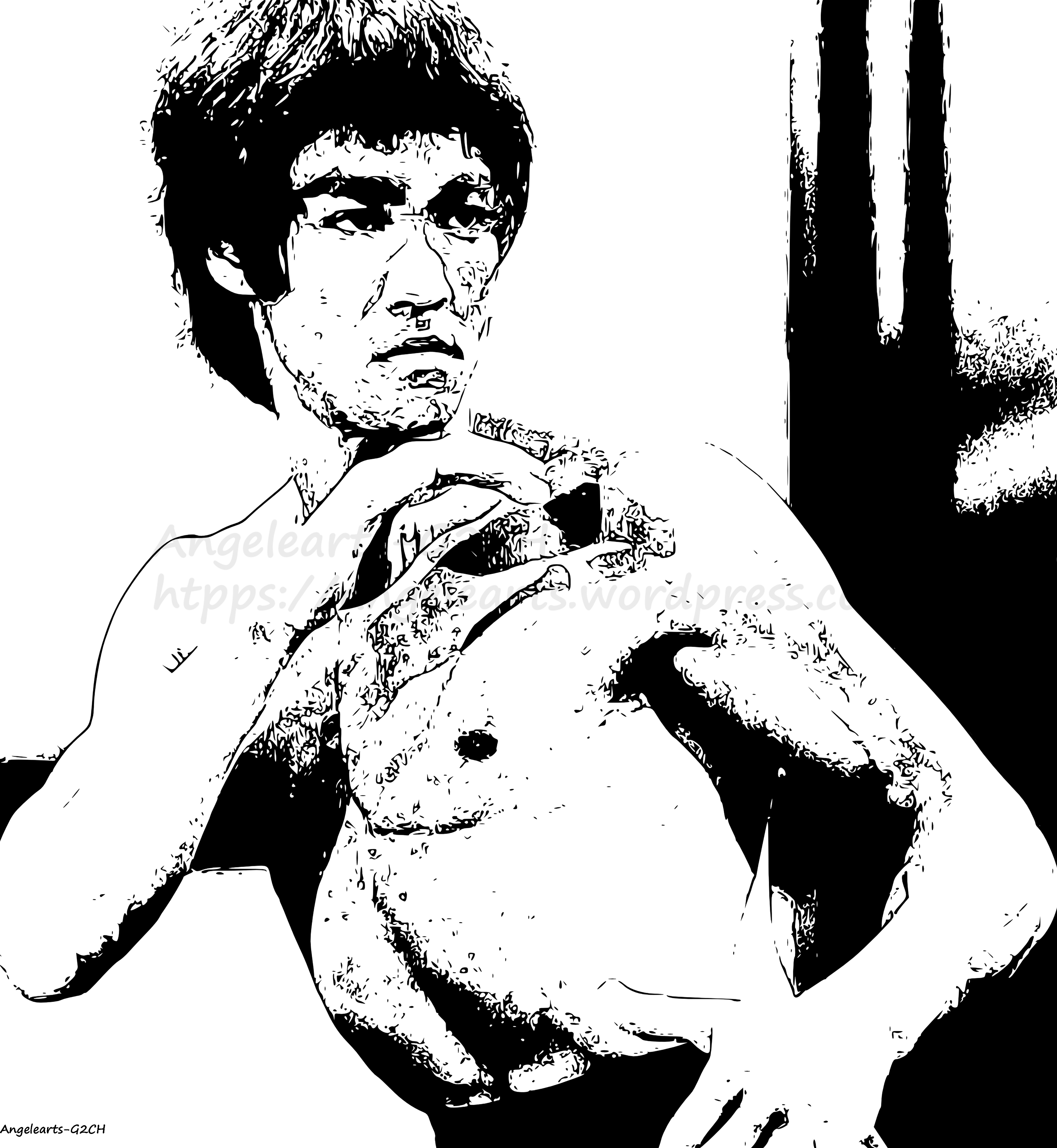 4134x4488 My Drawing Of Bruce Lee Angelearts