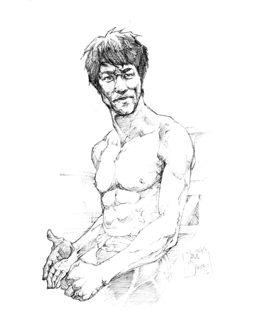 900x1165 The Dragon Bruce Lee By Jamieocampo