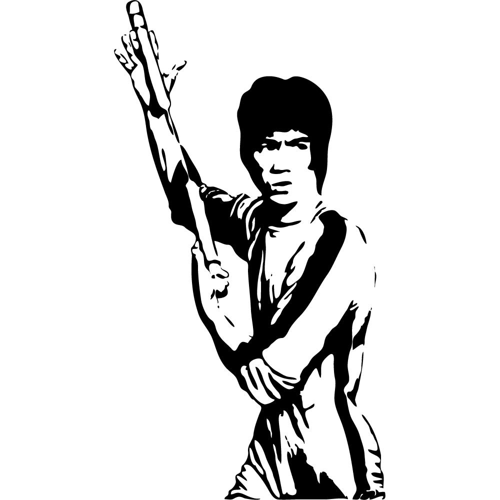 1000x1000 Wallstickers Folies Bruce Lee Wall Stickers