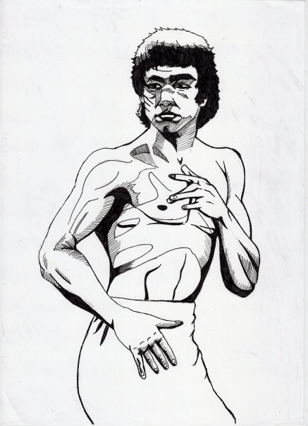437x604 Bruce Lee By James Ed Marsh