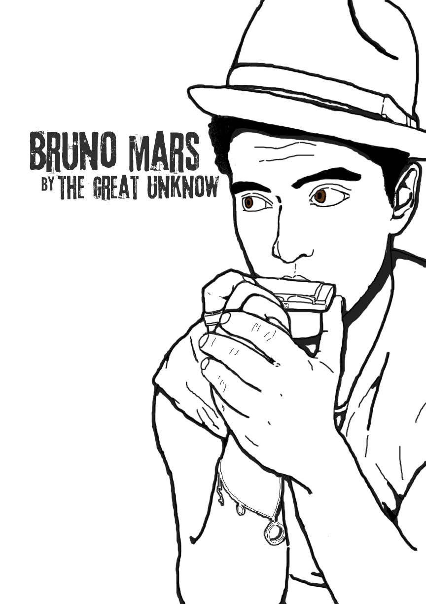 864x1224 Bruno Mars By The Great Unknow