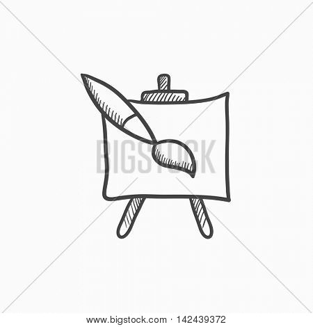 450x470 Easel Paint Brush Vector Sketch Vector Amp Photo Bigstock