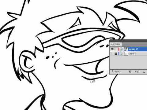 480x360 How To Ink A Drawing In Adobe Illustrator Blob Brush Tool