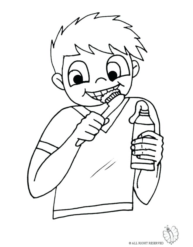 660x847 Brushing Teeth Coloring Page Brush Your Teeth Pictures Tooth