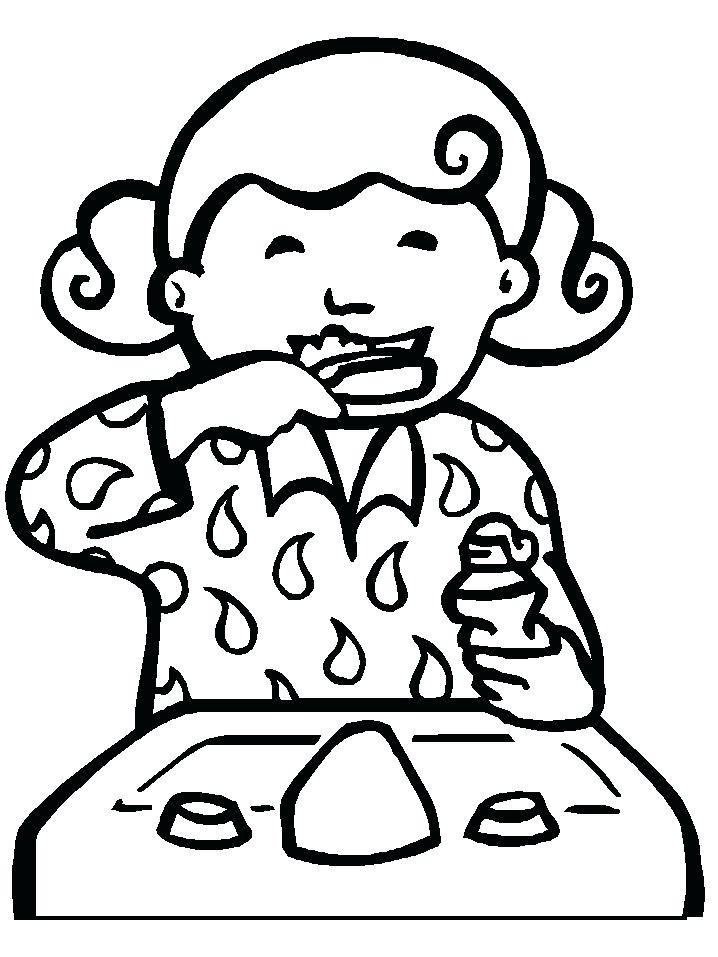 718x957 Brushing Teeth Coloring Pages 16940
