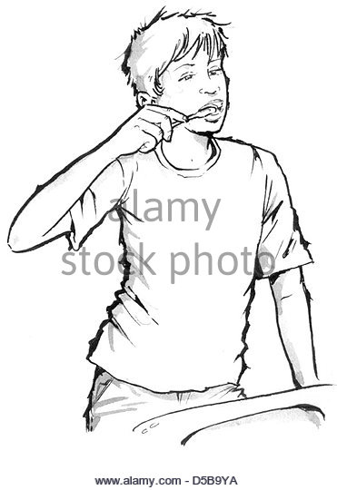 371x540 Child Brushing Teeth Black And White Stock Photos Amp Images