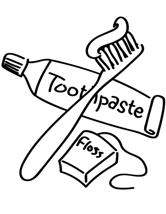 Brush teeth drawing at free for personal for Tooth and toothbrush coloring pages