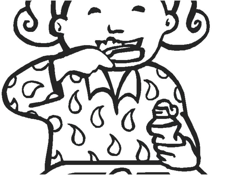 827x609 Tooth Brushing Coloring Pages For Stunning Teeth Coloring Pages