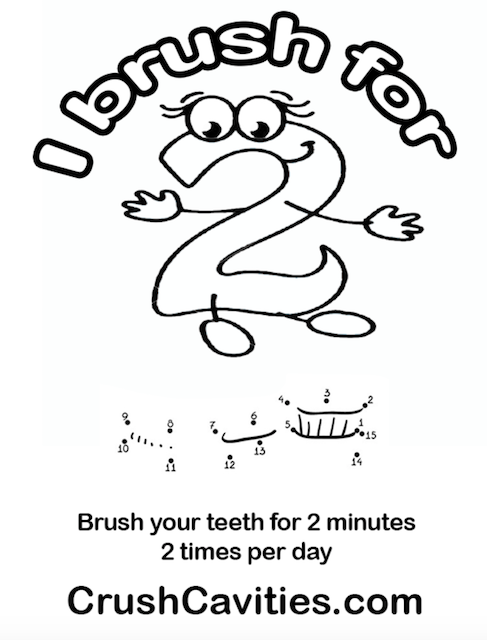 487x640 Brush Teeth For 2 Minutes 2 Times Per Day Crush Cavities