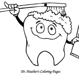 300x300 Dentist Teaching Kid How To Brush His Teeth Coloring Pages Bulk