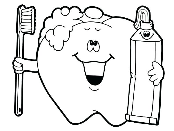 600x453 Health Coloring Pages 42 Together With Tooth Coloring Page Dental