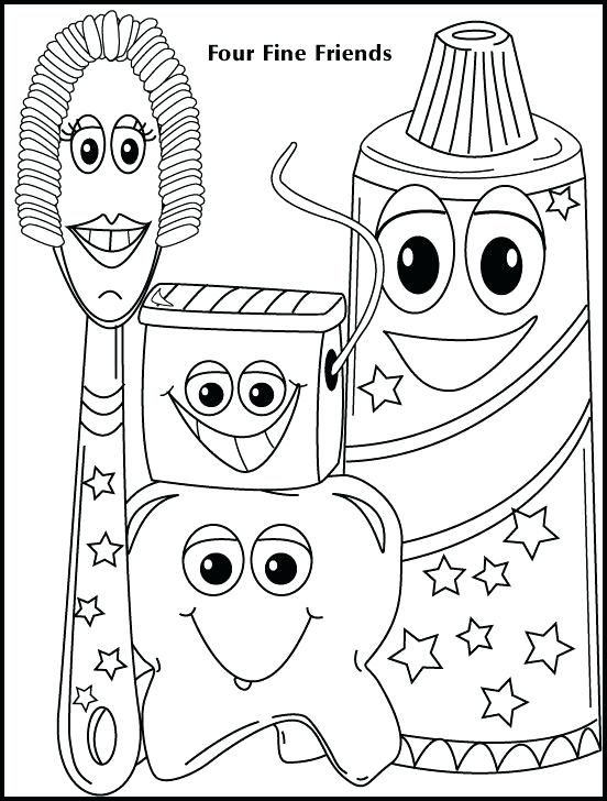 552x728 Teeth Brushing Coloring Pages Coloring Page Brushing Your Teeth