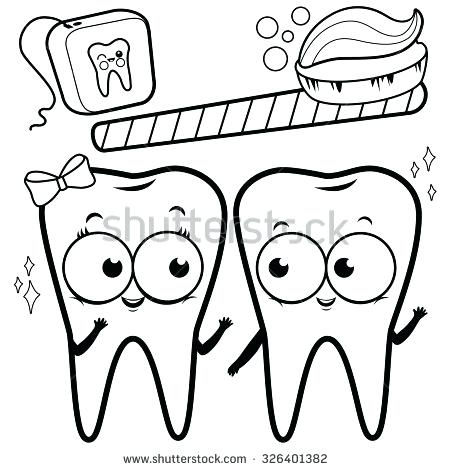 450x470 Teeth Coloring Page Click The Brushing Teeth Coloring Pages