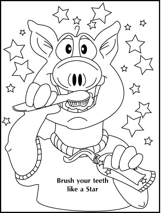550x726 Teeth Coloring Pages In Addition To Coloring Brushing Your Teeth