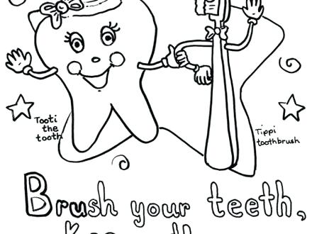 440x330 Body Coloring Teeth Coloring Pages Brush Your Teeth Coloring Page